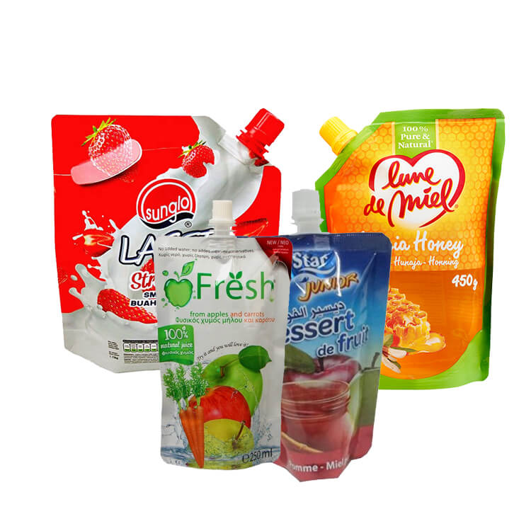 beverage packaging bag with nozzle,