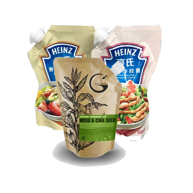 salad dressing packaging spout bags