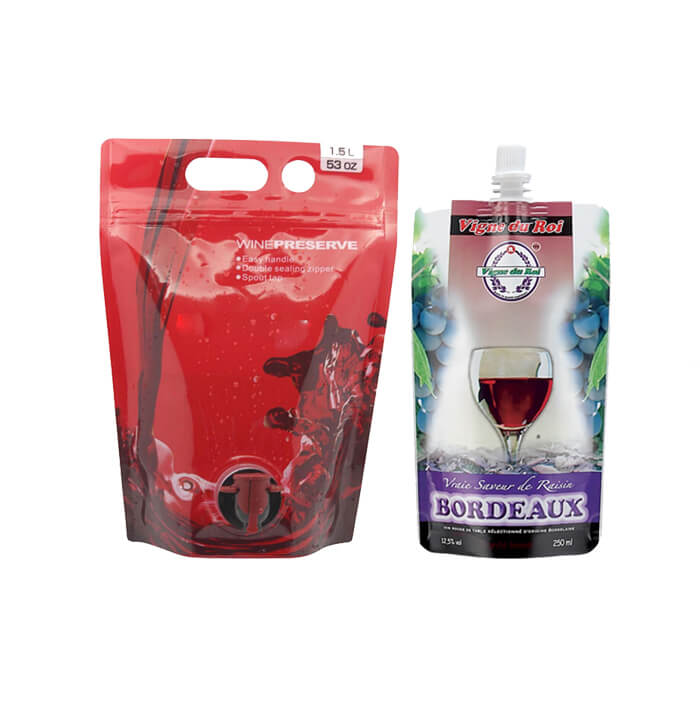 wine packaging pouch with valve,