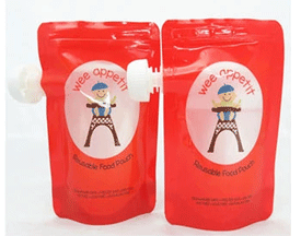stand up baby food spout pouch