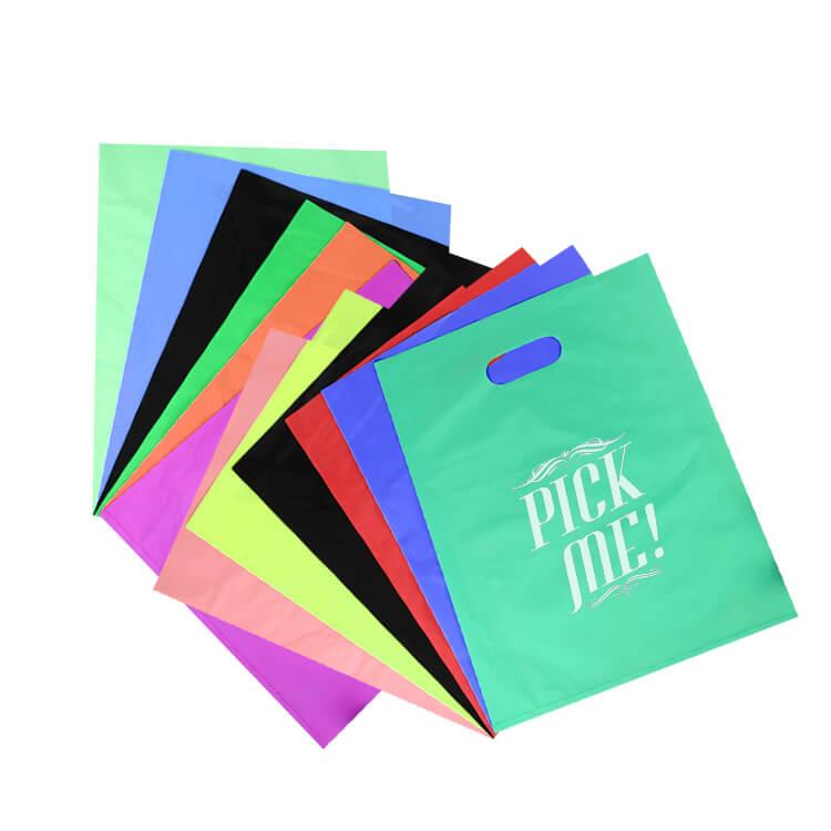 plastic colorful shopping bag