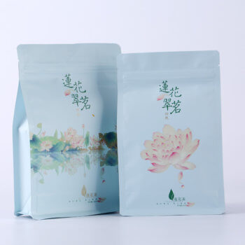 Customized environmental zipper Ziplock bag Flat bottom window plastic food packaging bag Nuts dried fruit octagonal sealing bag