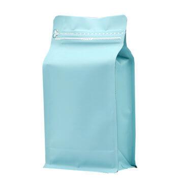 High quality custom printing logo one side zipper block flat bottom bag