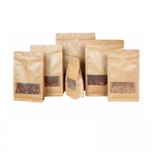 Kraft Paper Stand Up Bag, Food Ziplock Bag, High-Grade Packaging Bag* Dried Fruit Food