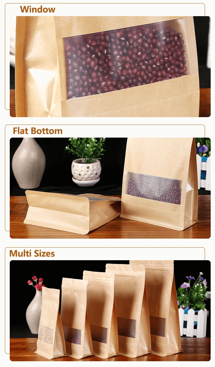 Kraft Paper Stand Up Bag2