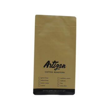 Plastic Foil Flat Bottom One Way Valve Coffee Packing Bags