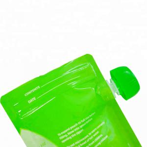Plastic bag refill liquid soap dispenser