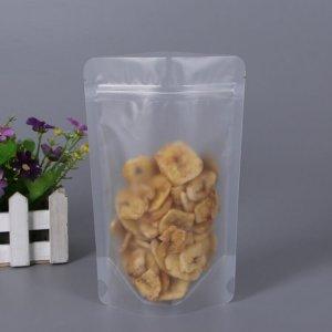 Clear Coffee/Tea Stand-Up Zipper Bag, Valve Block Bottom Bag For Food
