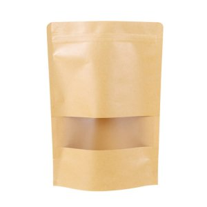 Cheaper Brown Kraft Paper Stand Up Pouch Bag