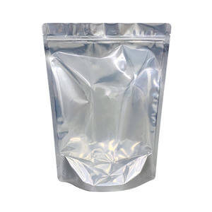 Clear stand up pouch with resealable ziplock