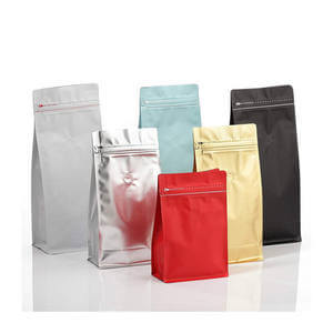 Colorful Printed Aluminum Coffee Pouch with Pocket Zipper