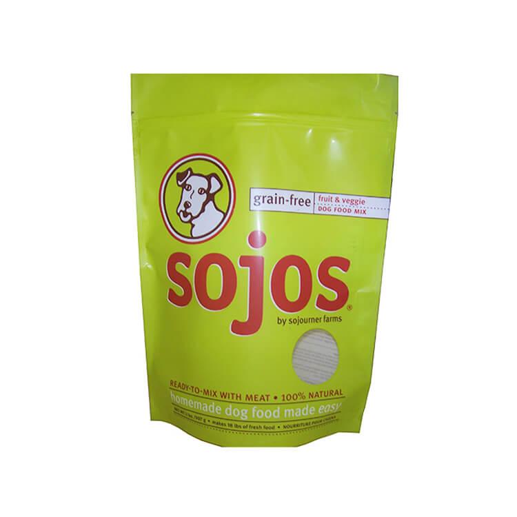 ziplock pet food bag